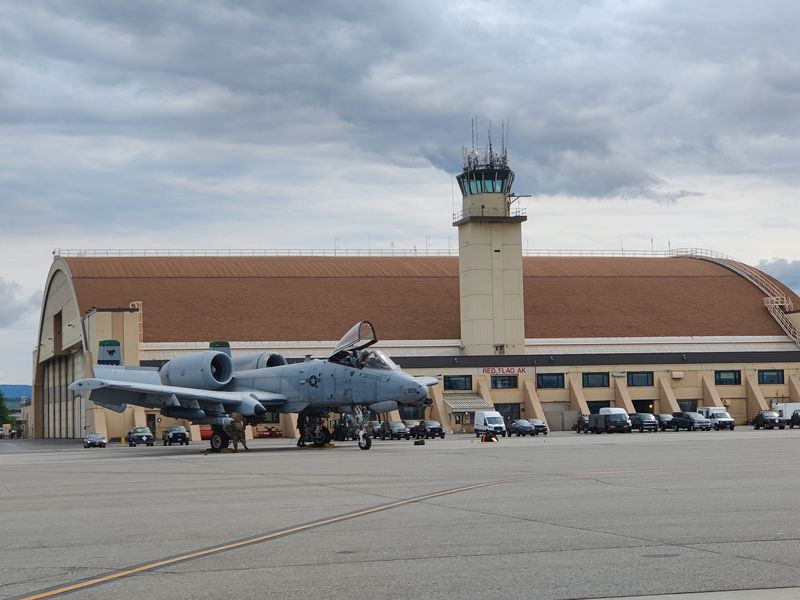 Dozens of aircraft and around 1,500 personnel are at Eielson Air Force Base to take part in Red...