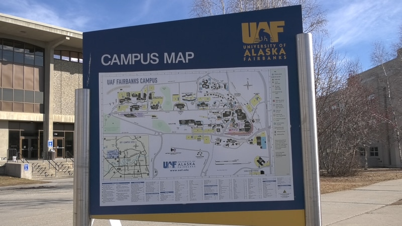One of the maps available to guide those on the University of Alaska Fairbanks campus.
