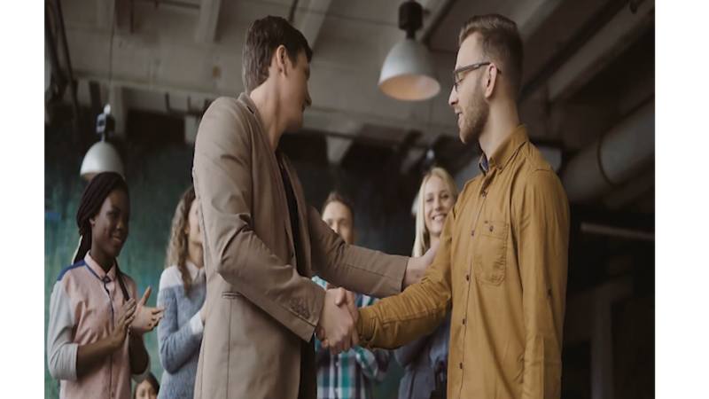 Entrepreneurs collaborating