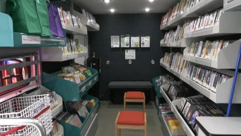 Inside the Bookmobile