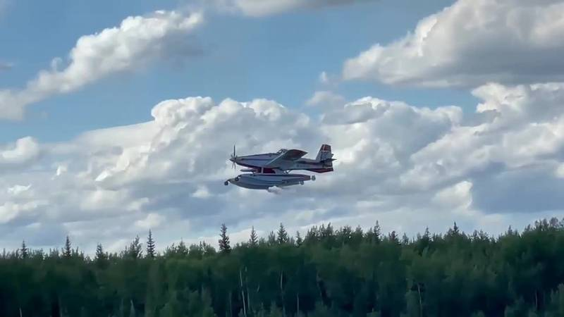 Air Tractor fire bomber battling the Brock Road Fire