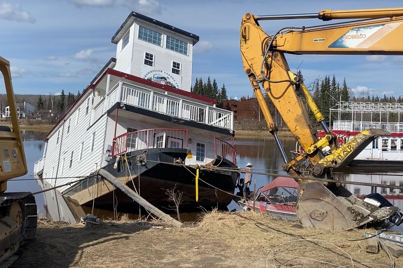Tanana Chief Sternwheelers gift shop and office was pulled from the Chena river after it's...