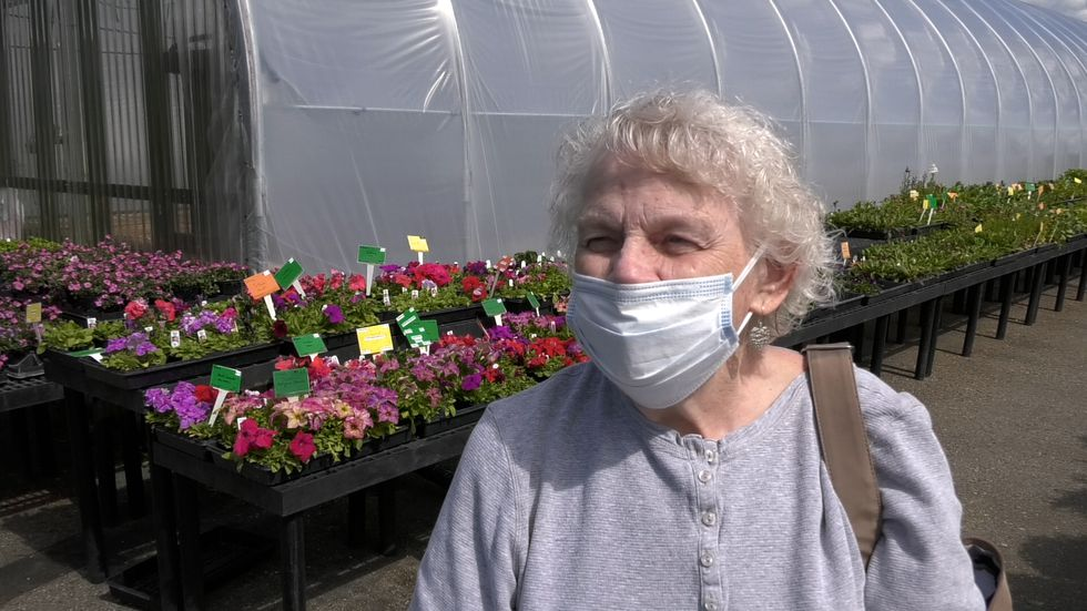 Fairbanks Gardener Ruby Kibbee said she is planting less this year but still has a lot planted.