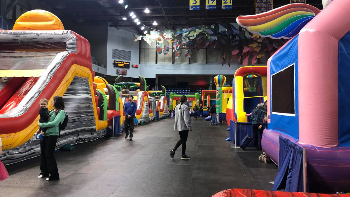 There were 25 inflatables in the Carlson Center as part of 'Kid Fest.' (Sara Tewksbury/KTVF)