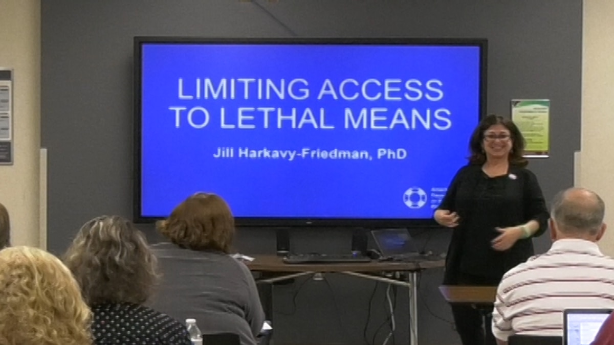 A national suicide prevention expert came to talk to health professionals and care providers at the Fairbanks memorial hospital this past Monday for World Suicide Prevention Day. (Carly Sjordal/KTVF)