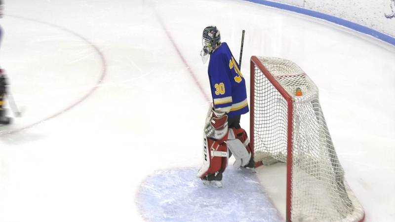 Jimmy Packee (#30) led the Monroe Catholic Rams with 30 saves as they won 2-0 over the North...