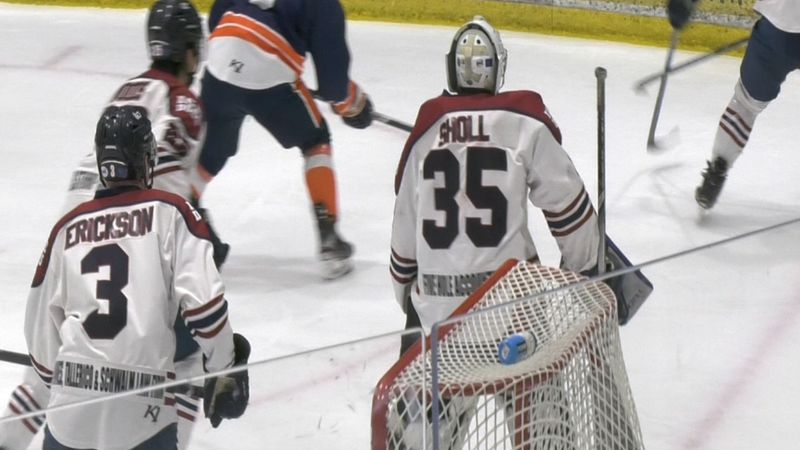 Former Fairbanks Ice Dogs goaltender Mattias Sholl committed to Bemidji State University.