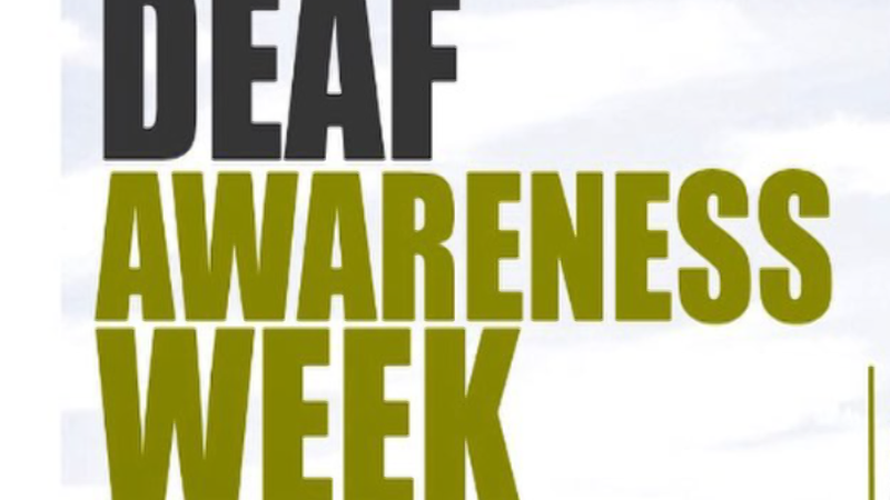Deaf Awareness Week begins this Sunday (9/20/2020)