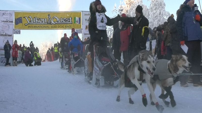 The 2022 Yukon Quest will begin in Fairbanks February 5. (FILE)