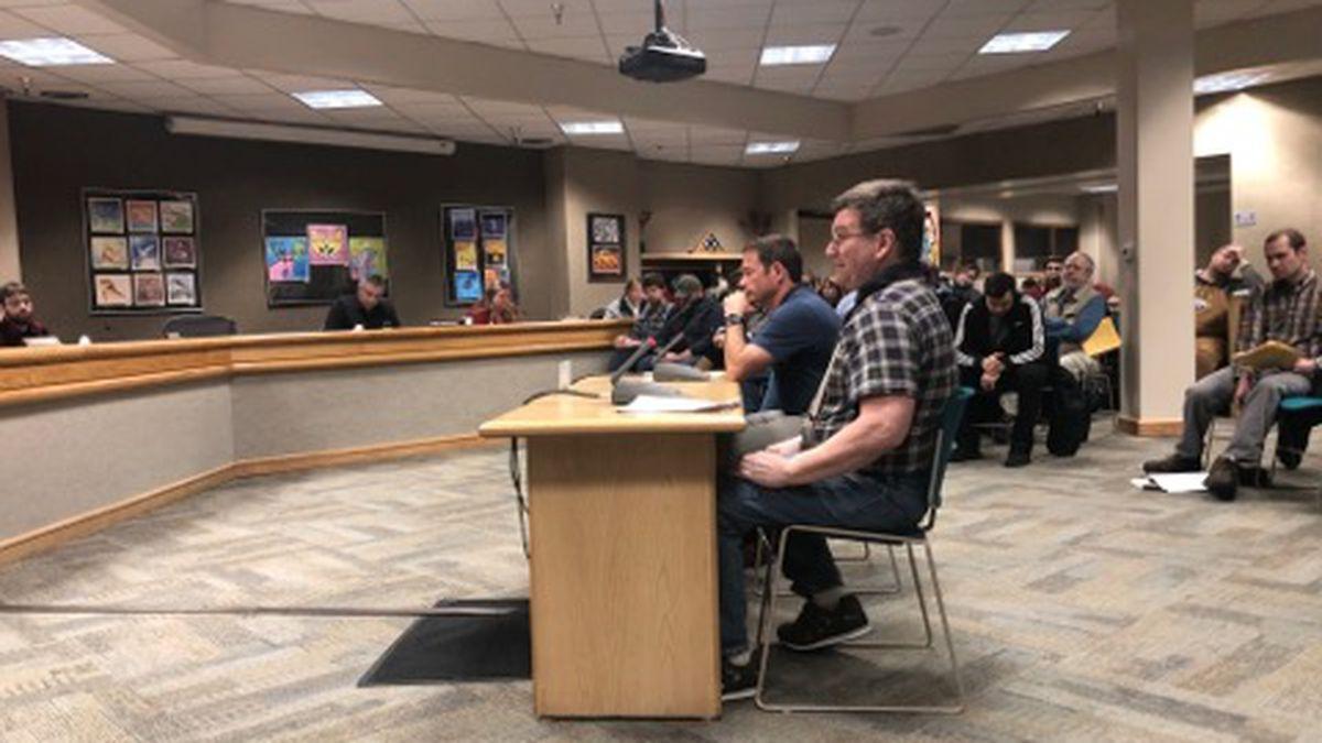 Fairbanks North Star Borough Assembly postponed vote on Capital Improvement Program due to overwhelming amount of public testimony. (Sara Tewksbury/KTVF)