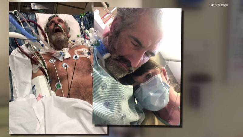 Denny Thompson, 51, spent three months battling COVID-19 in the hospital with machines keeping...