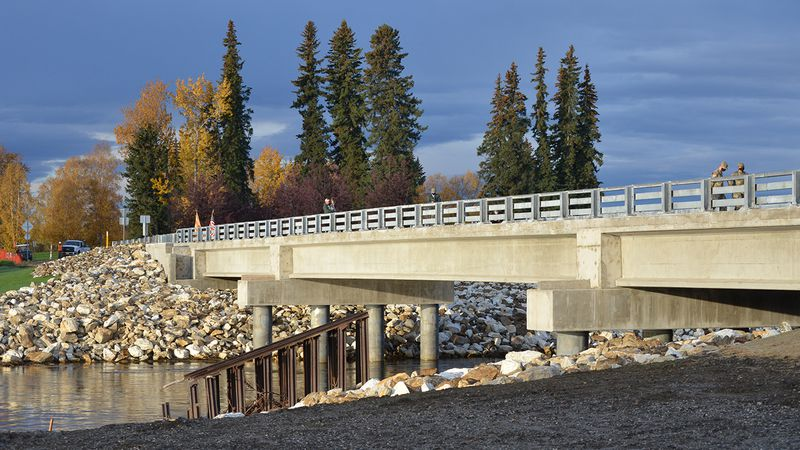 A ribbon cutting ceremony Friday marked the reopening of the Bailey Bridge, a...