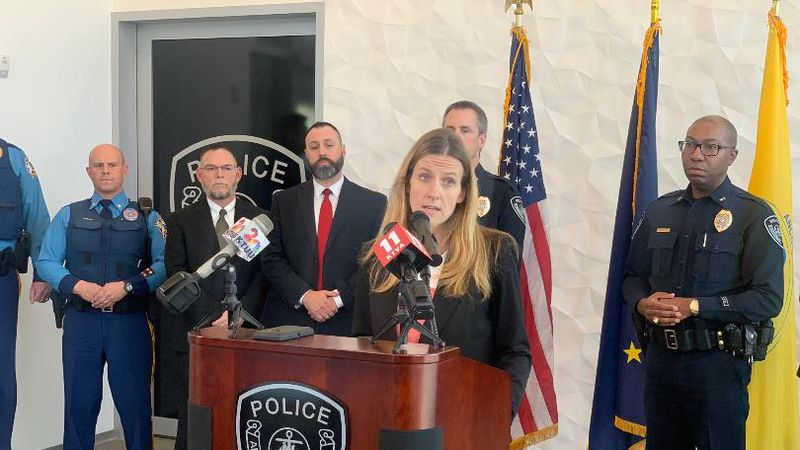 Deputy District Attorney Brittany Dunlap announces additional charges against Brian Smith....