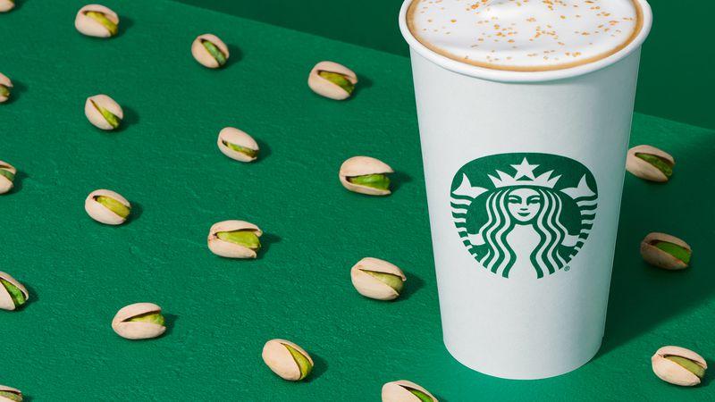 Starbucks announced a new winter menu and it includes a Pistachio Latte.