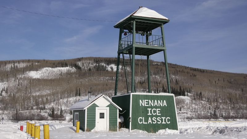 The tripod for the Nenana Ice Classic has been placed on the Tanana River, and tickets to...