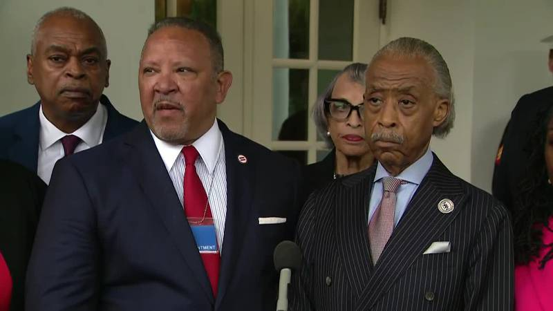 Civil rights leaders, including Marc Morial, president of the National Urban League, and the...