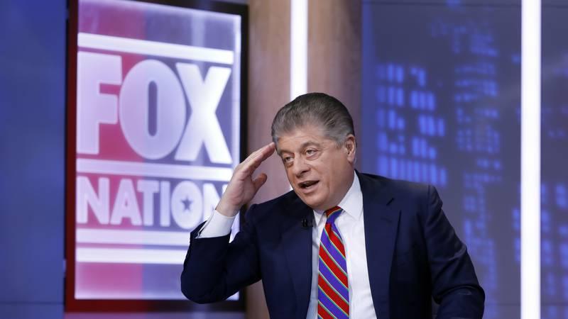 FILE - This Nov. 27, 2018 file photo shows Fox News senior judicial analyst Andrew Napolitano...