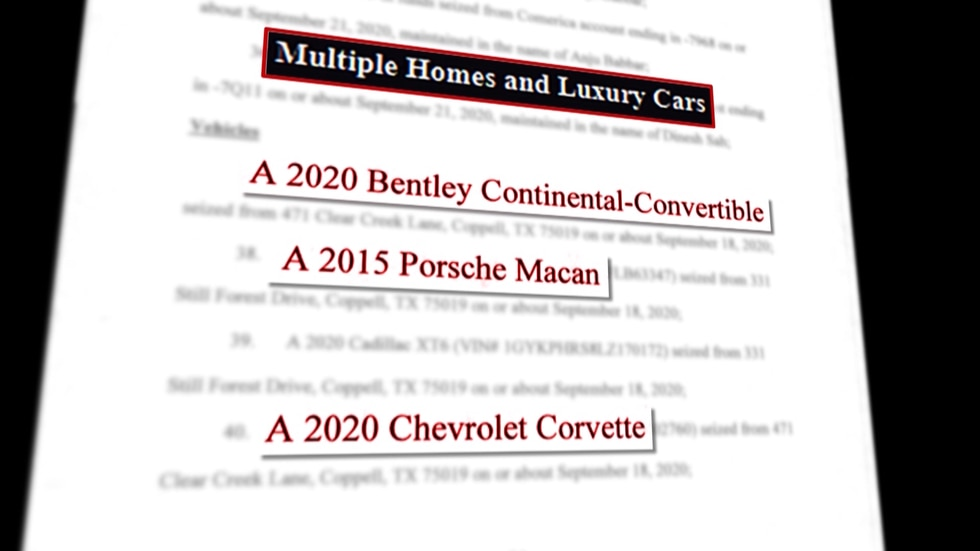 Court documents detail the types of cars prosecutors say a Texas man bought using CARES Act...
