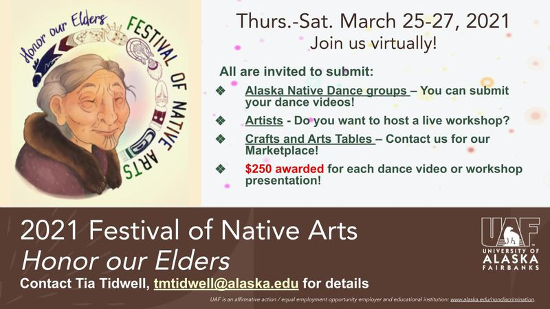 The Festival of Native Arts is seeking entries for their 2021 festival - including videos of...