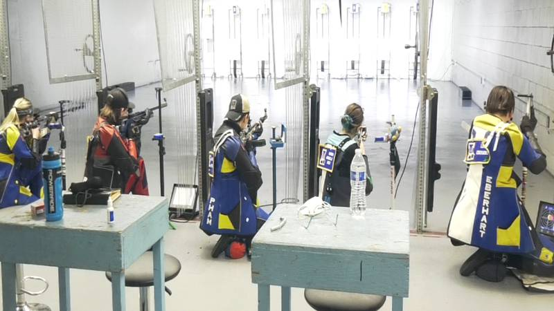UAF's 5th-ranked rifle program lines up for shooting at the Tanana Valley Sportsmen's...