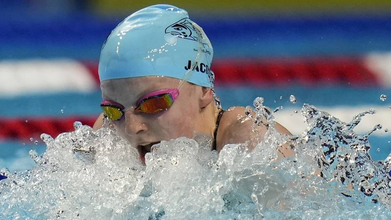 Lydia Jacoby participates in the Women's 100 Breaststroke during wave 2 of the U.S. Olympic...