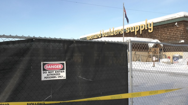 Due to a partial roof collapse Spenard Builders Supply will be closed for the time being.