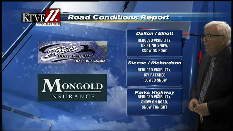 Winter road conditions for 02/25/2021