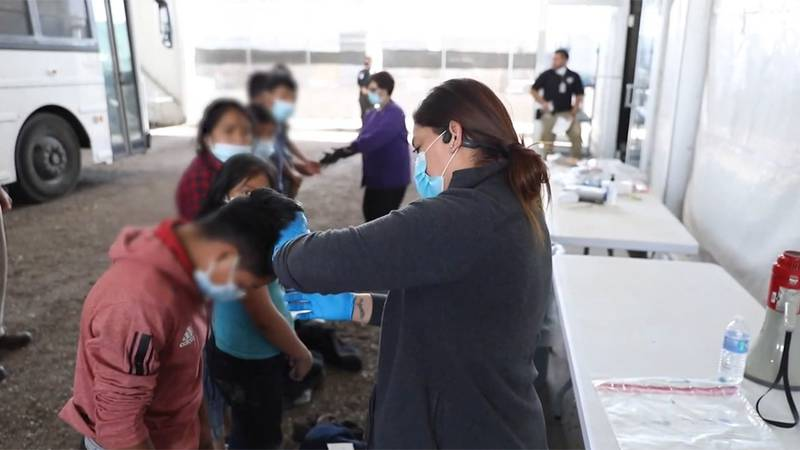 Children are shown in the custody of U.S. Customs and Border Protection in this file image.