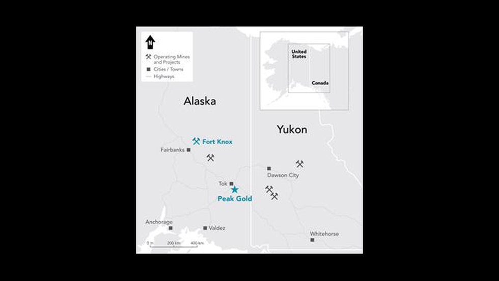 The Peak Gold project is a relatively high-grade deposit with a large estimated resource base...