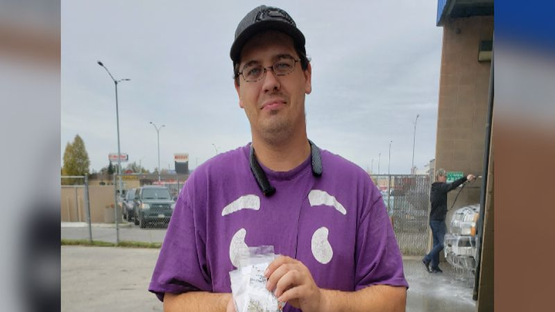 Todd Thompson helped a stranger dig through trash to find her daughter's handmade earrings.