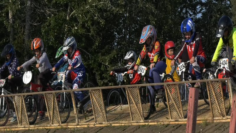 Far North BMX racers prepare to take off.