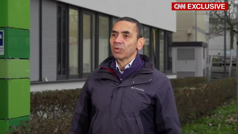 BioNTech CEO Ugur Sahin talks to CNN after the UK announced it has granted temporary...