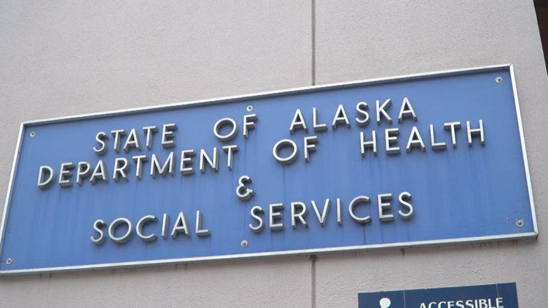 Signing at the Dept. of Health and Social Services headquarters in Juneau.