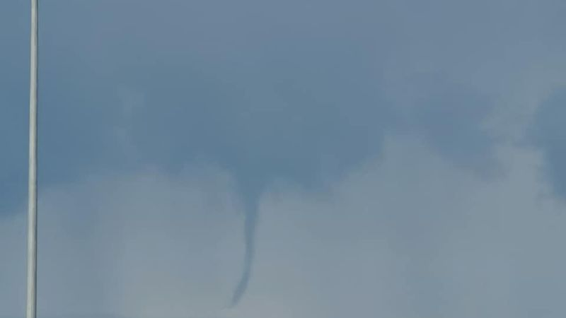 A cold air funnel cloud forms over Fairbanks.