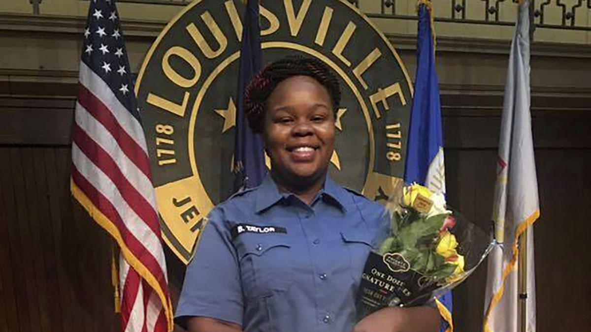 This undated photo provided by Taylor family attorney Sam Aguiar shows Breonna Taylor in Louisville, Ky.