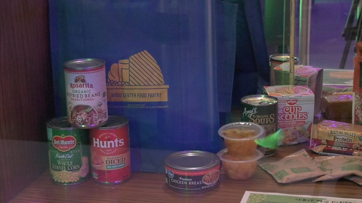 Canned food and fruit cups are good donations to the food pantry, but anything non-perishable...