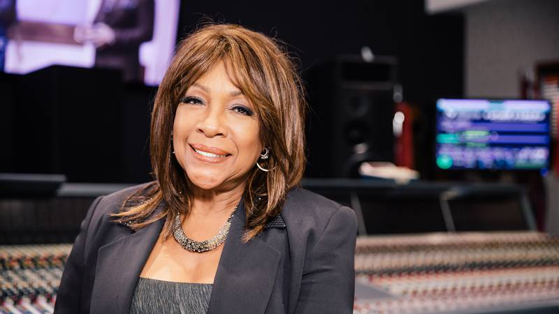 Mary Wilson, founding member of The Supremes, poses on the roof of Capitol Records on Thursday,...