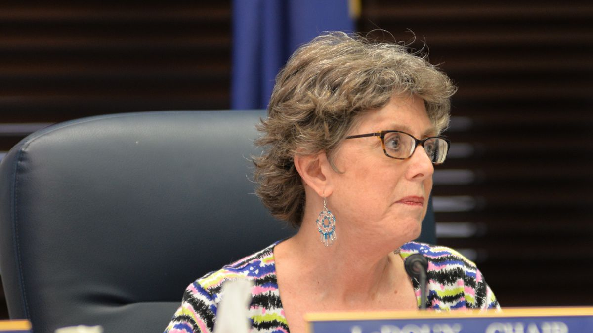 Former Rep. Gabrielle LeDoux, R-Anchorage, chairing a meeting of the House Rules Committee.