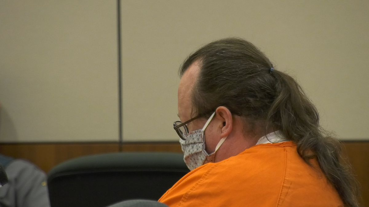 Mark King, 51, of Fairbanks sits in court awaiting to hear his sentence in his conviction of...