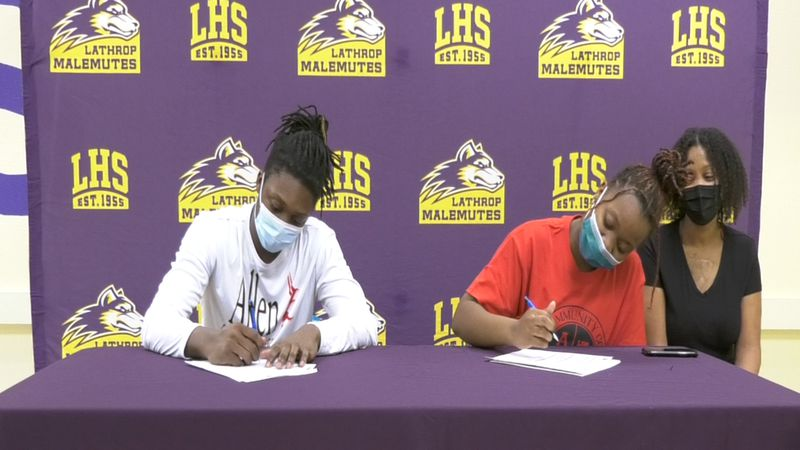 Malachi (left) and Tristian (right) Martin signed their National Letters of Intent to compete...
