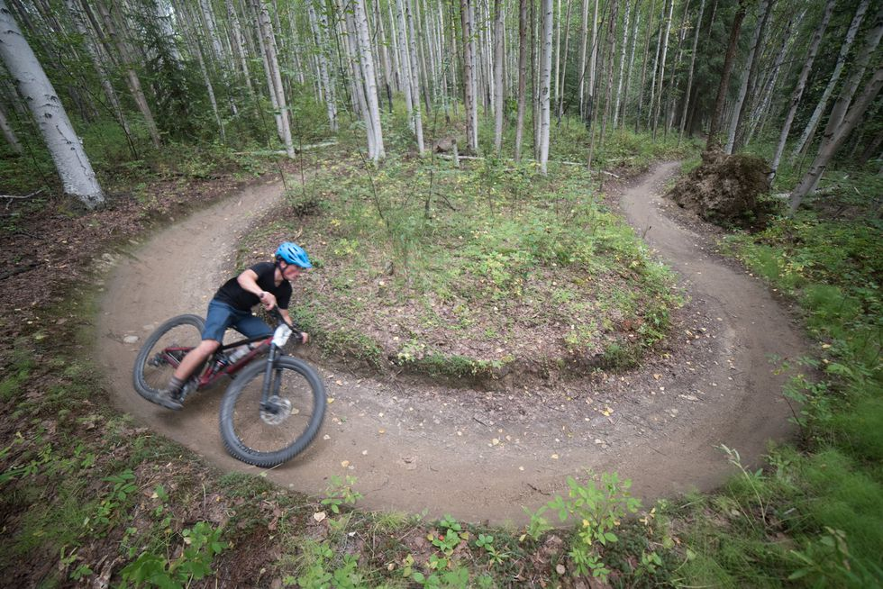 A rider takes on the HooDoo Cup series