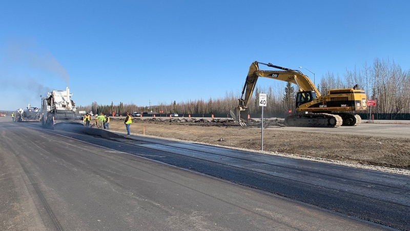 Last week, contractors from the Department of Transportation and Public Facilities paved the...