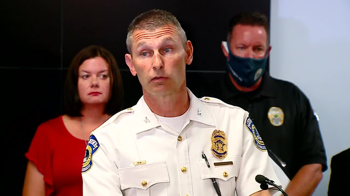Craig McCartt, deputy chief of the Indianapolis Metro Police Department, talks about an alleged...