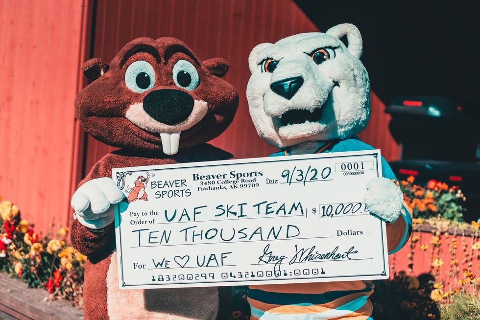 Beaver Sports donated $10,000 to UAF's skiing and cross country running programs.