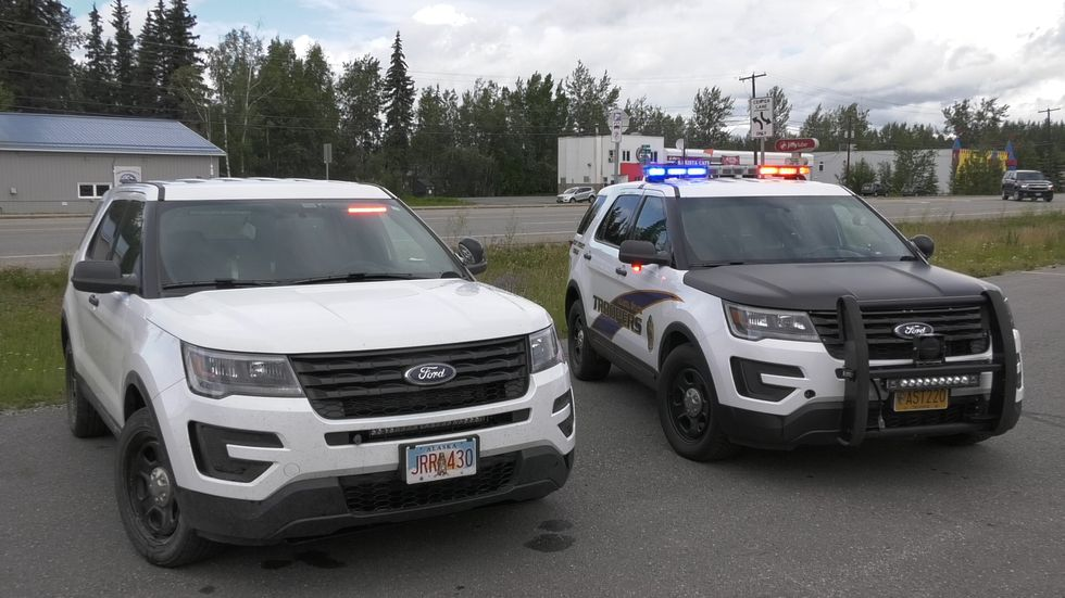 Marked an unmarked AST vehicles. Carson said that even the unmarked ones have built in lights. (John Dougherty/KTVF)
