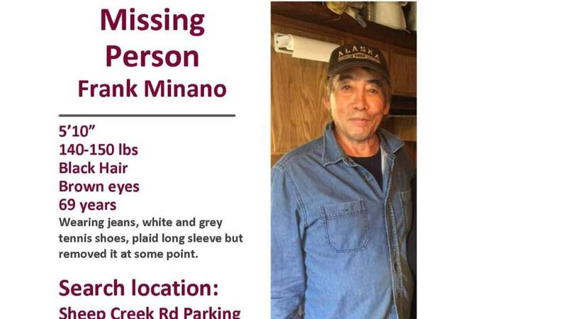 August 17th, 2020 69-year-old Frank Minano's truck was abandoned near the Old Nenana Highway;...
