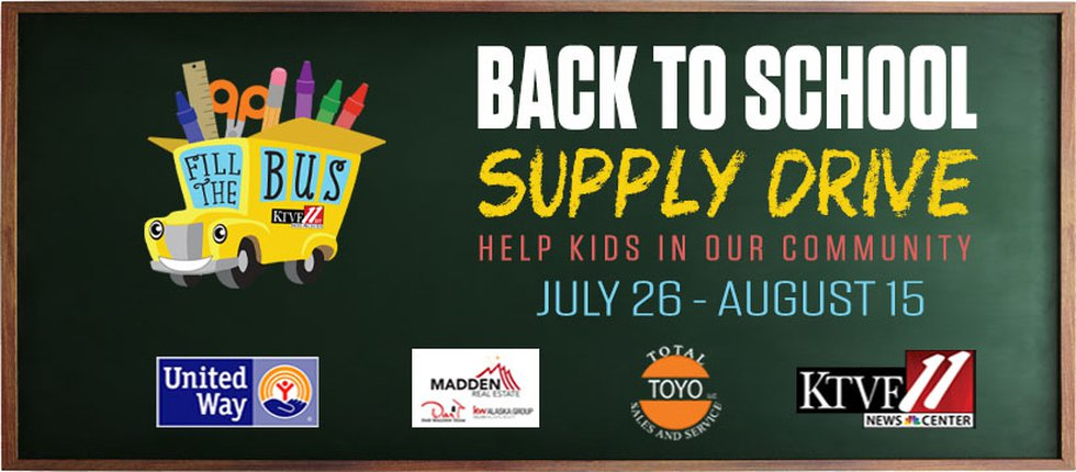 Fill the Bus School Supply Drive