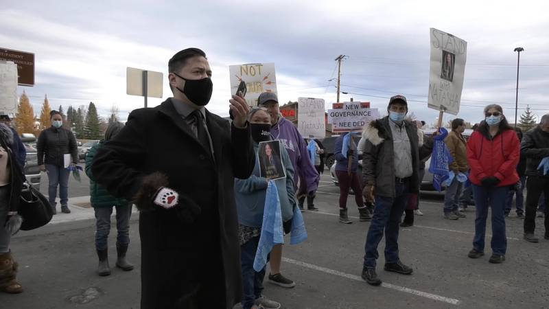 Concerned Tribal Members gathered outside of the Tanana Chiefs Conference, asking for answers...