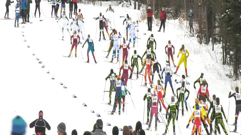Skiers take on the trails at Birch Hill for the Town Series Race #1.