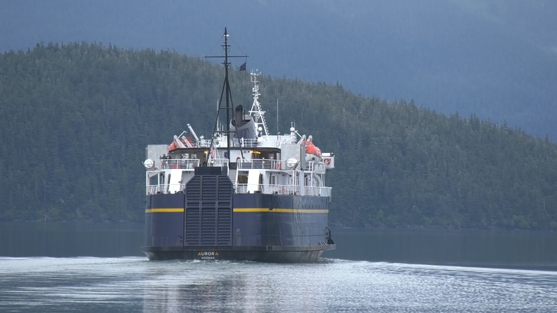 One of the ferries that comprise the Alaska Marine Highway System.